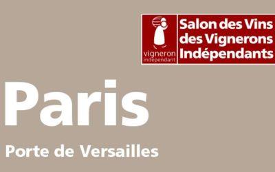 Retrouvez-nous au Salon des Vins et des Vignerons Indépendants, Paris !